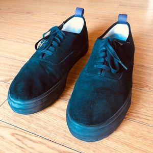 Eytys Black Suede Mother Galosh Sneaker